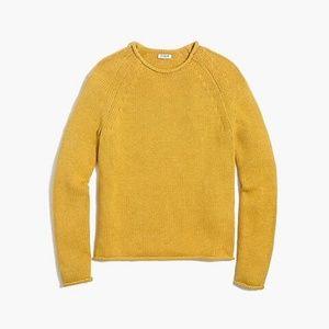 J. Crew Rollneck Pullover Sweater Mustard Yellow